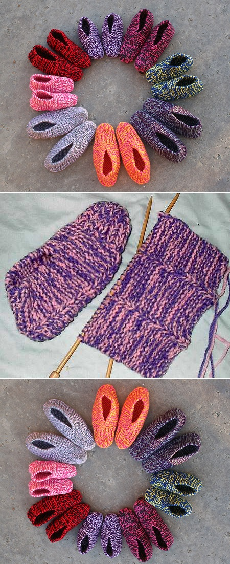 Easy Knitted Slippers - Pattern