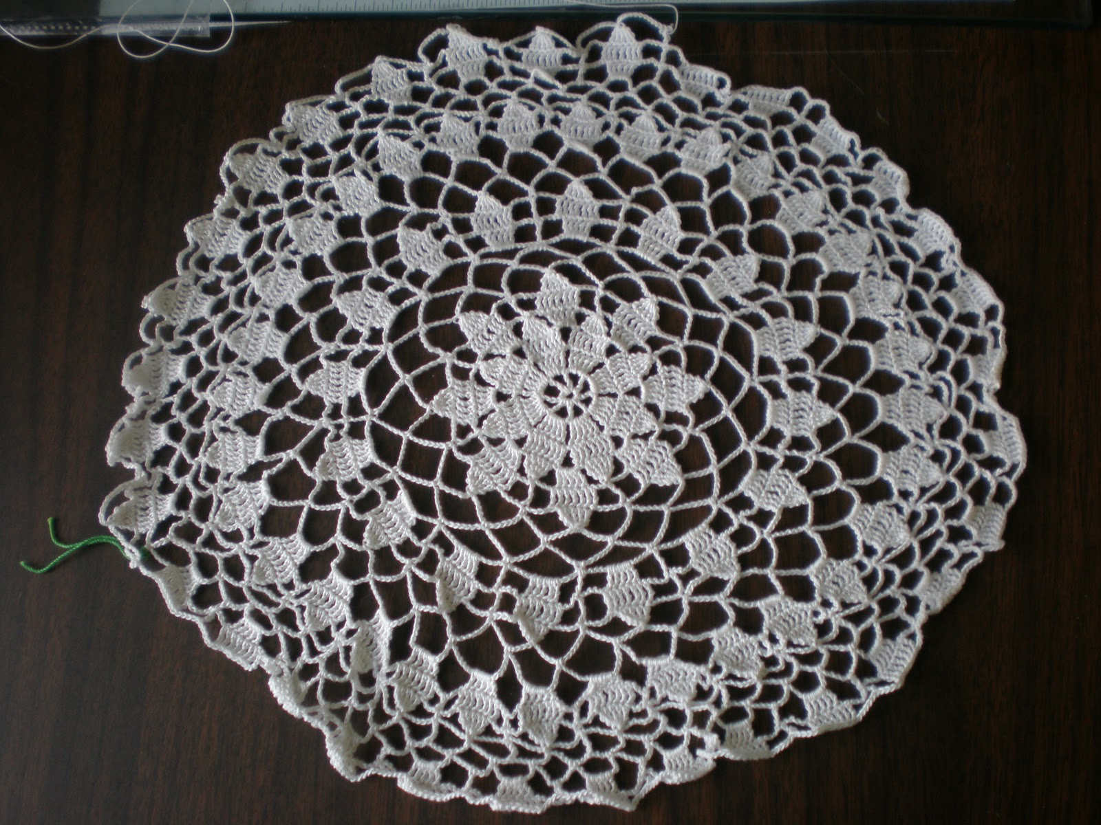Queen Anne Doily more progress