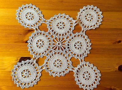 Vintage-Crochet-Doilies-Two-Tray-Covers-Dressing-Table