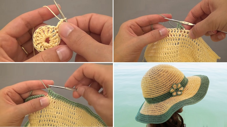 Check Out Complete Tutorial via Link Below  Crochet Summer Hat from  Interunet c8c1bc60e6d