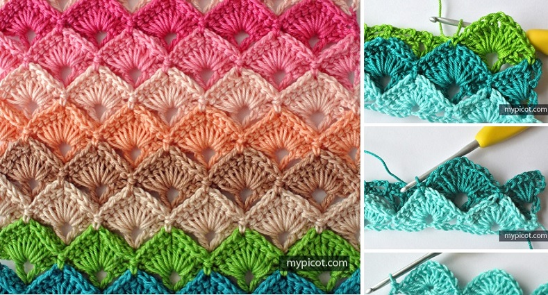 Crochet Stitches And How To Do Them : Crochet Box Stitch Tutorial, Pattern Design Peak