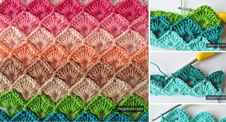 Crochet Stitches How To Do Them : Crochet Box Stitch Tutorial, Pattern Design Peak