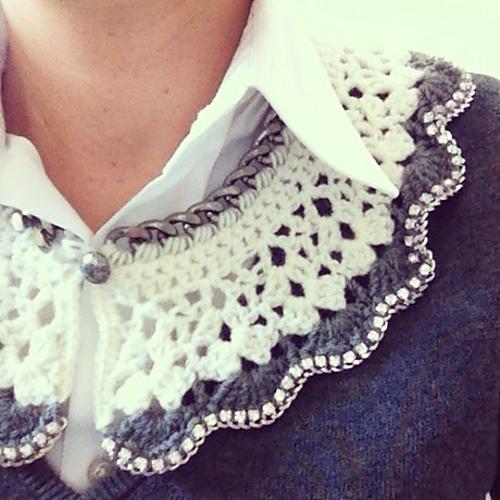 Elegant Crochet Collar Design Peak