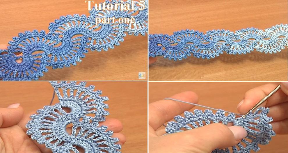 Crochet Lace Tutorial For Beginner : Crochet Lace Tape Tutorial ? Design Peak