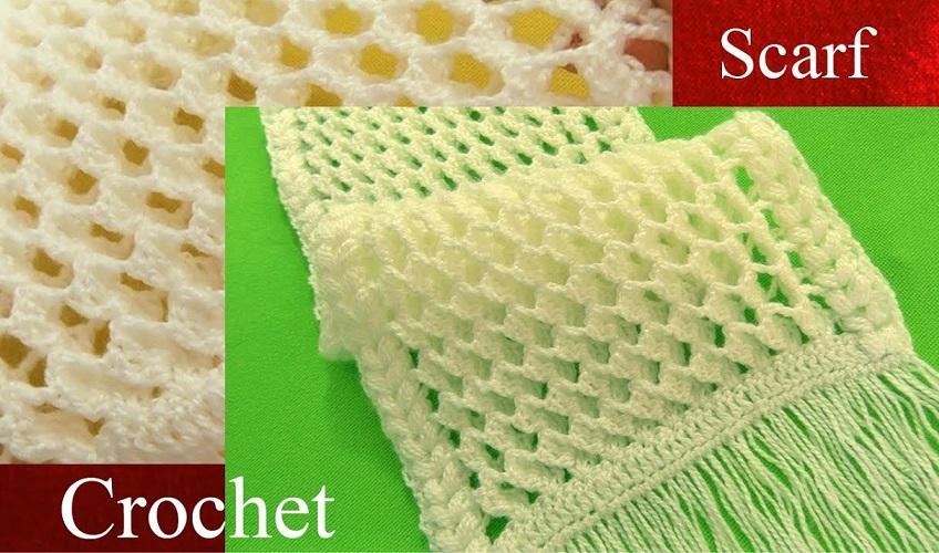 Crochet Scarf Tutorial Design Peak