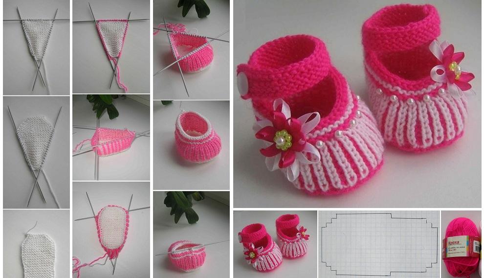 Cute Baby Booties Tutorial Design Peak