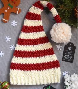 Crochet Elf Holiday Hat Pattern Design Peak