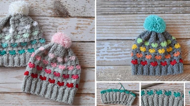 Crochet Heart Beanie