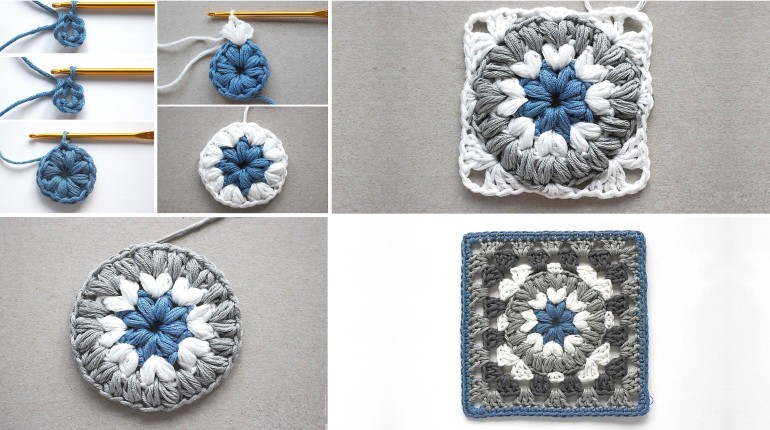 Crochet Puff Square