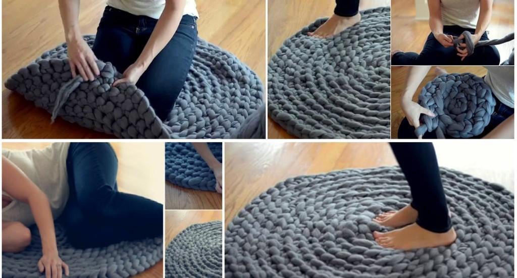 Crochet Giant Puffy Carpet Rug