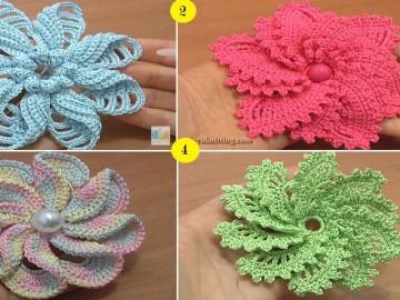 CrochetSpiralFlowers