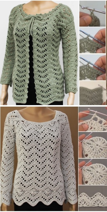 Pullover and Cardigan Tutorials
