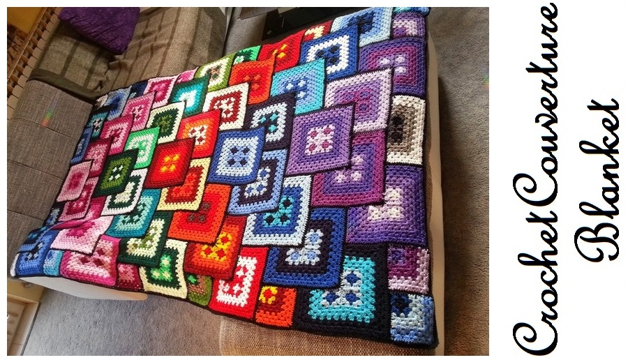 Crochet couverture blanket - free pattern featured