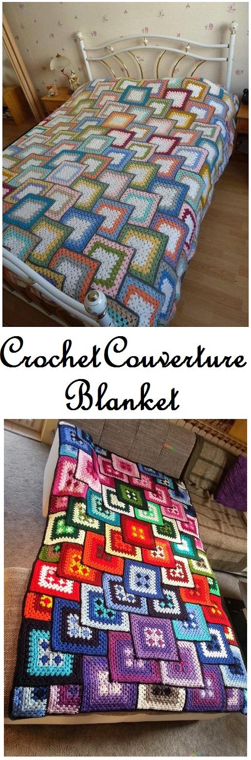 Crochet couverture blanket - free pattern