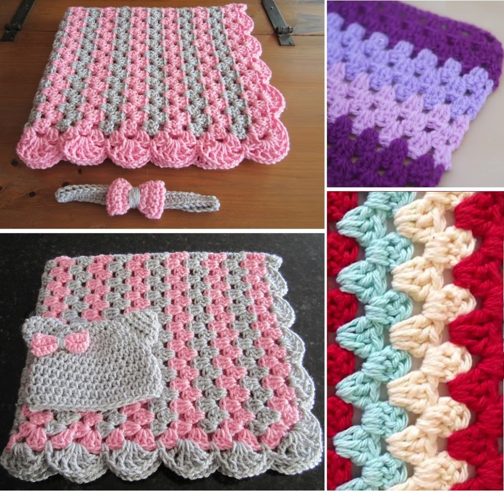 How to crochet zigzag stitch 1