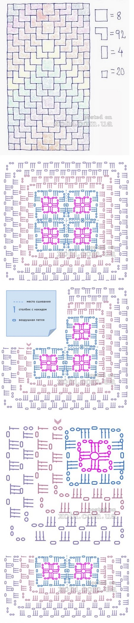 Square Blanket Chart
