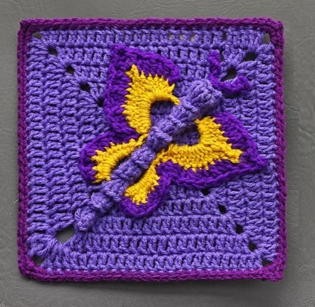 How to Croceht 3D Butterfly in a Square 3