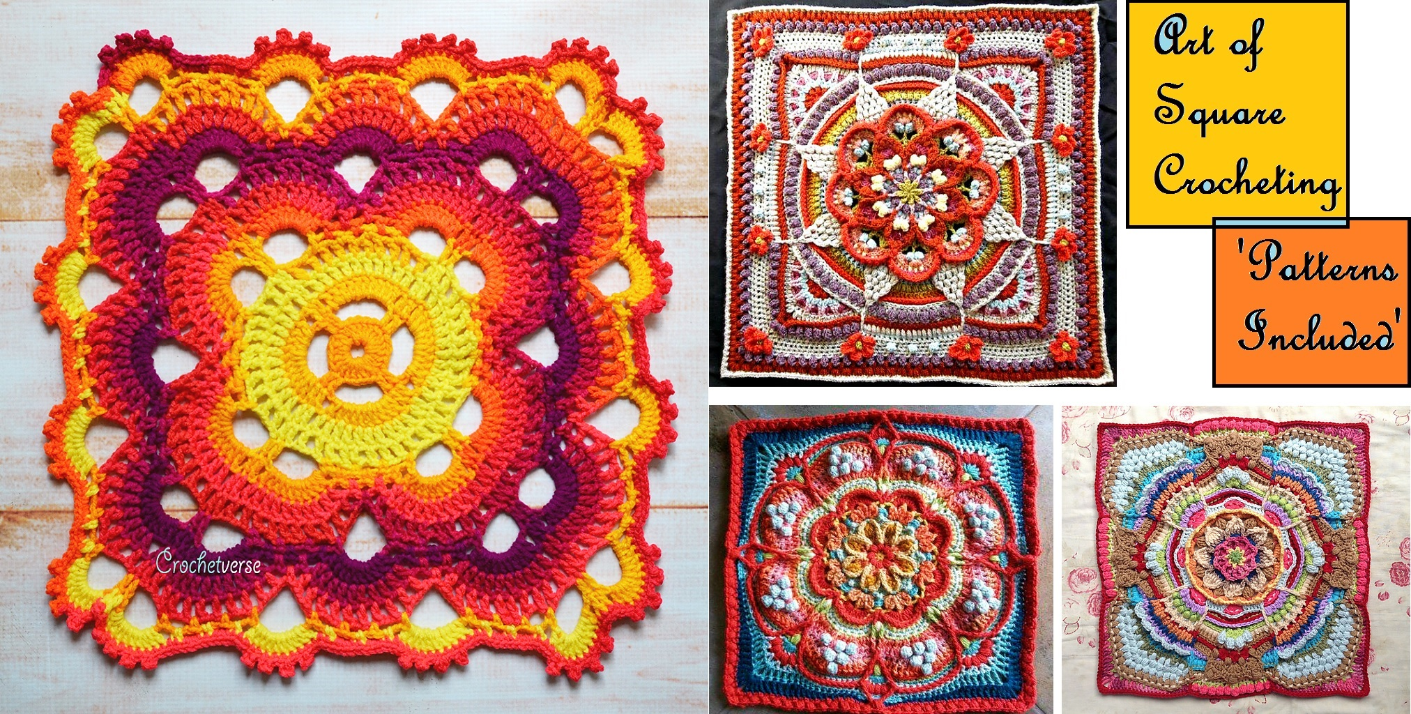 Art of Square Crocheting – Patterns Included - Design Peak