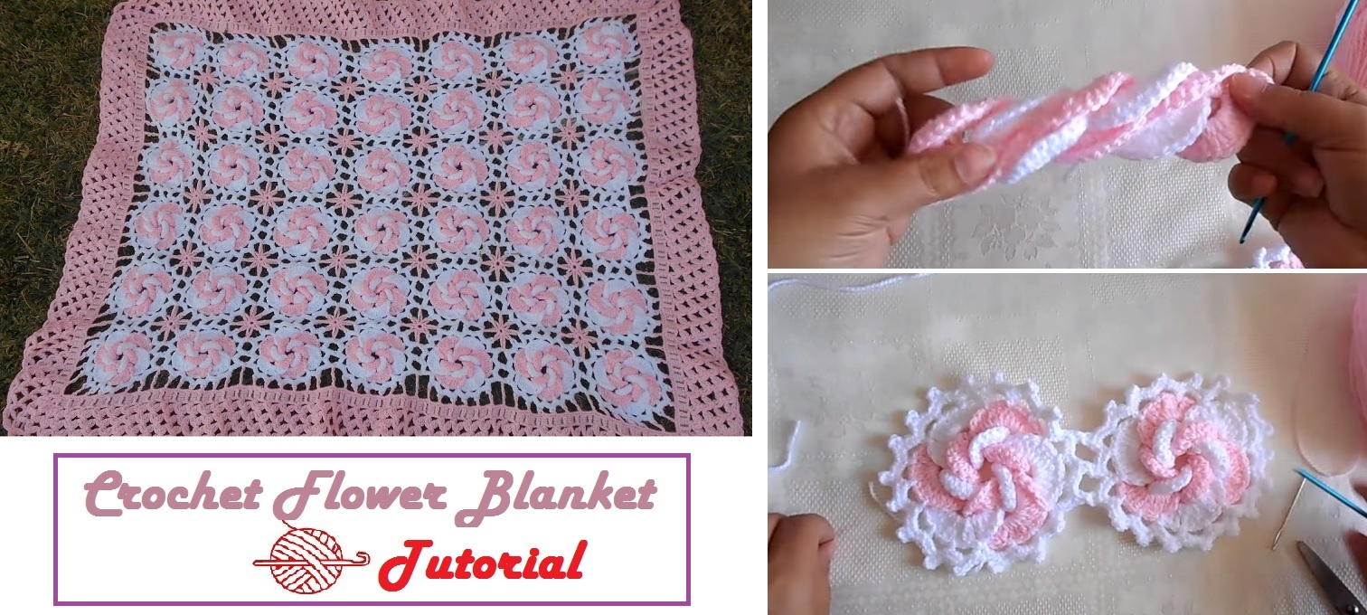 From flowers to a beautiful crochet blanket design peak from flowers to a beautiful crochet blanket izmirmasajfo Image collections