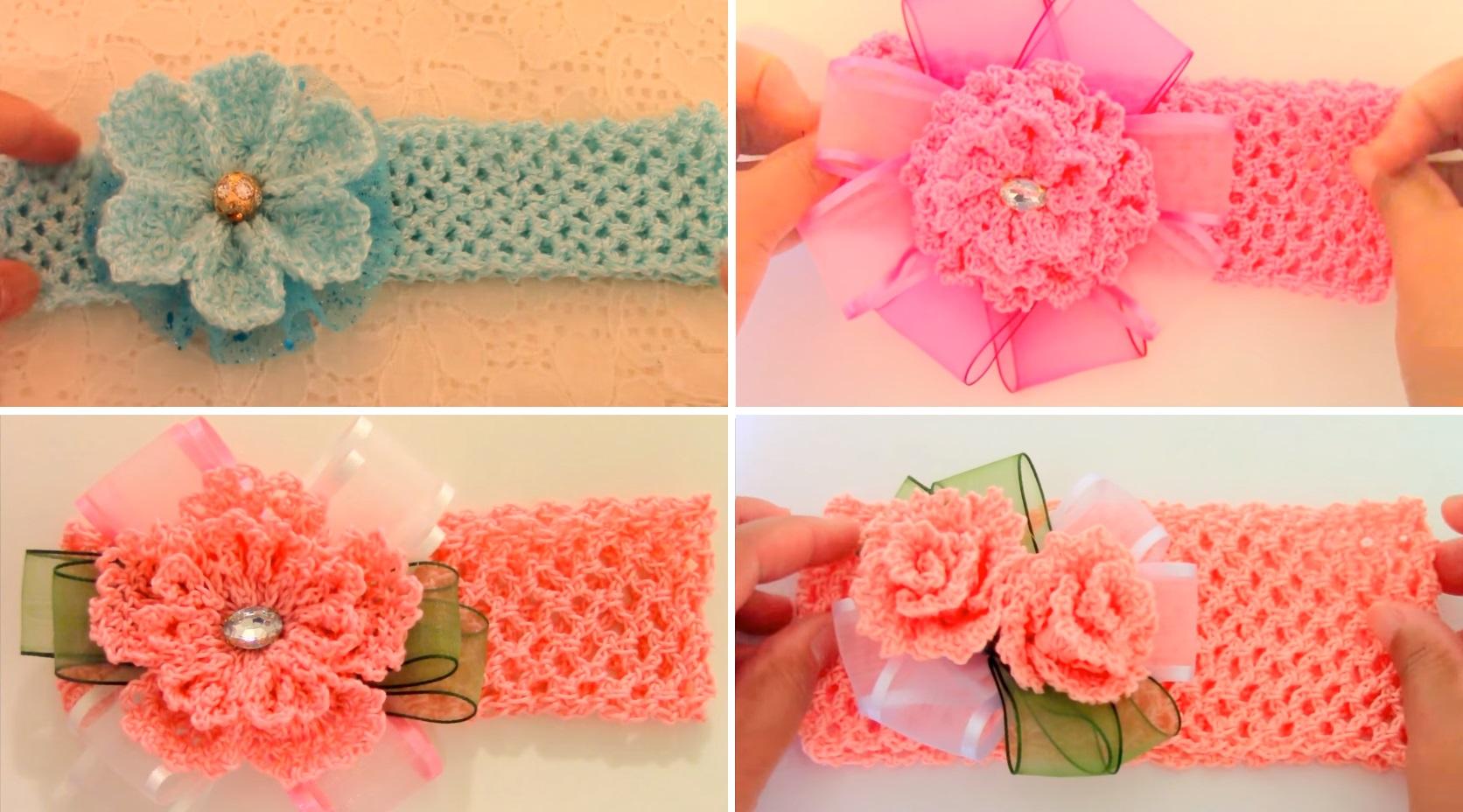 Crochet Headbands With Beautiful Flowers Design Peak