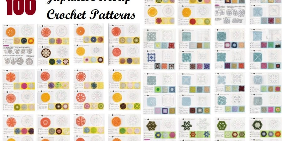 100 Japanese Crochet Motif Patterns Design Peak