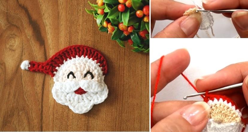 Crochet Santa Applique Design Peak