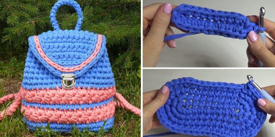 Crochet Pretty Backpack Design Peak
