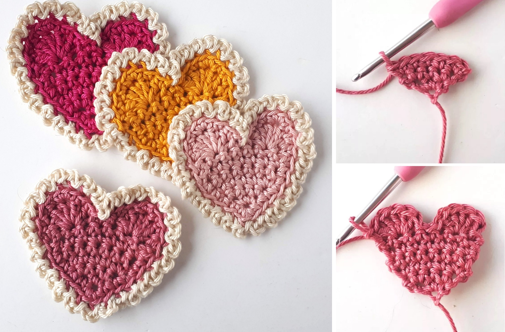 Crochet Heart - Simple Tutorial - Design Peak - Crochet Tutorial