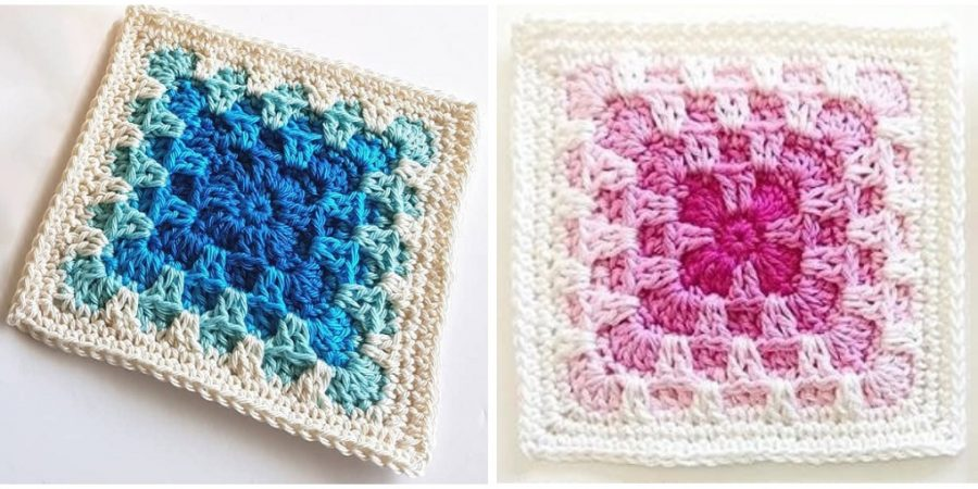 Solid Square Crochet Pattern Design Peak