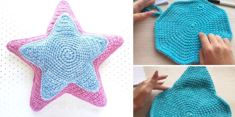 Crochet Star Pillow Video Pattern Design Peak Unique Crochet Star Pattern