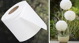 Flower from Toilet Paper