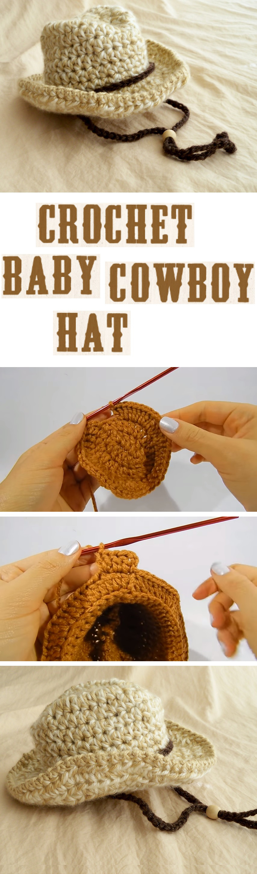 Crochet Baby Cowboy Hat - Design Peak