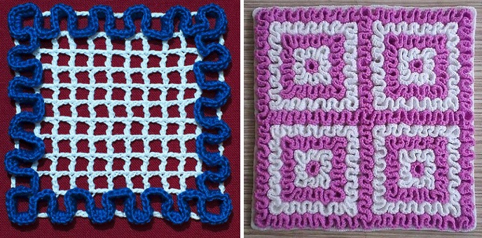 Crochet Squiggly Wiggly Square - Design Peak