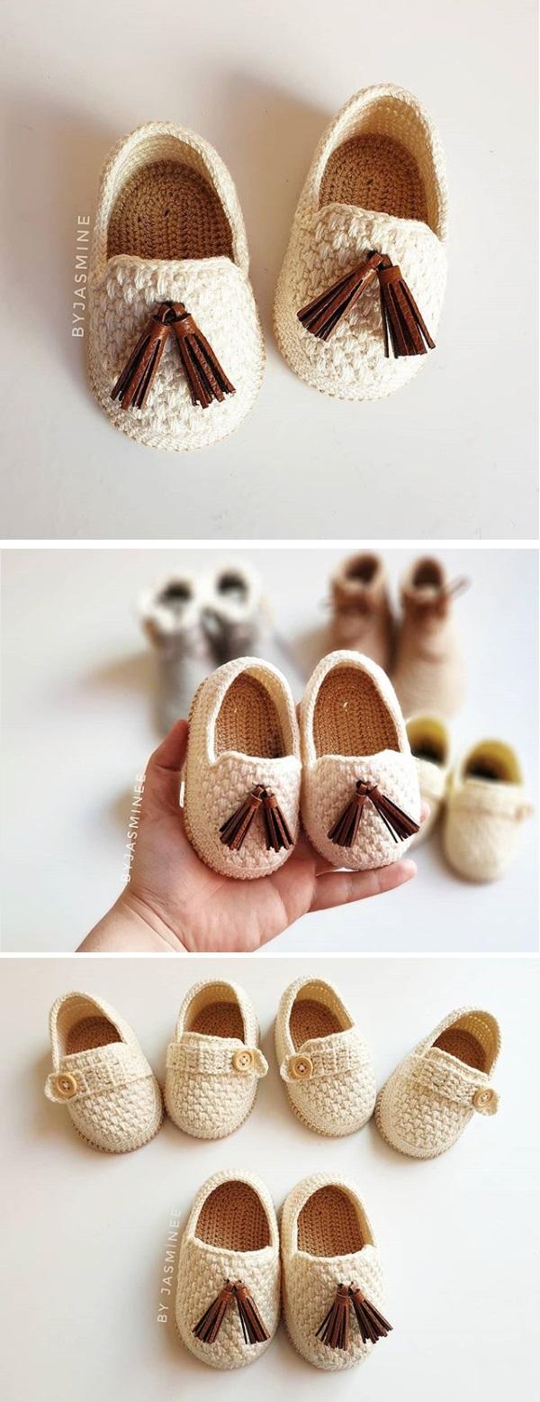 Crochet Baby Moccasins - Design Peak