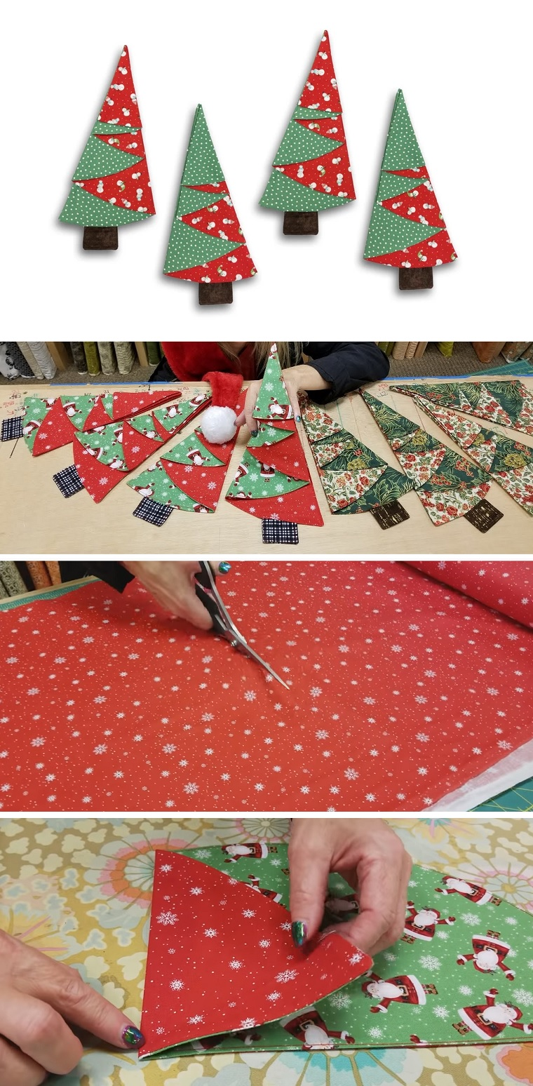 Diy Tutorial Fabric Christmas Tree Design Peak