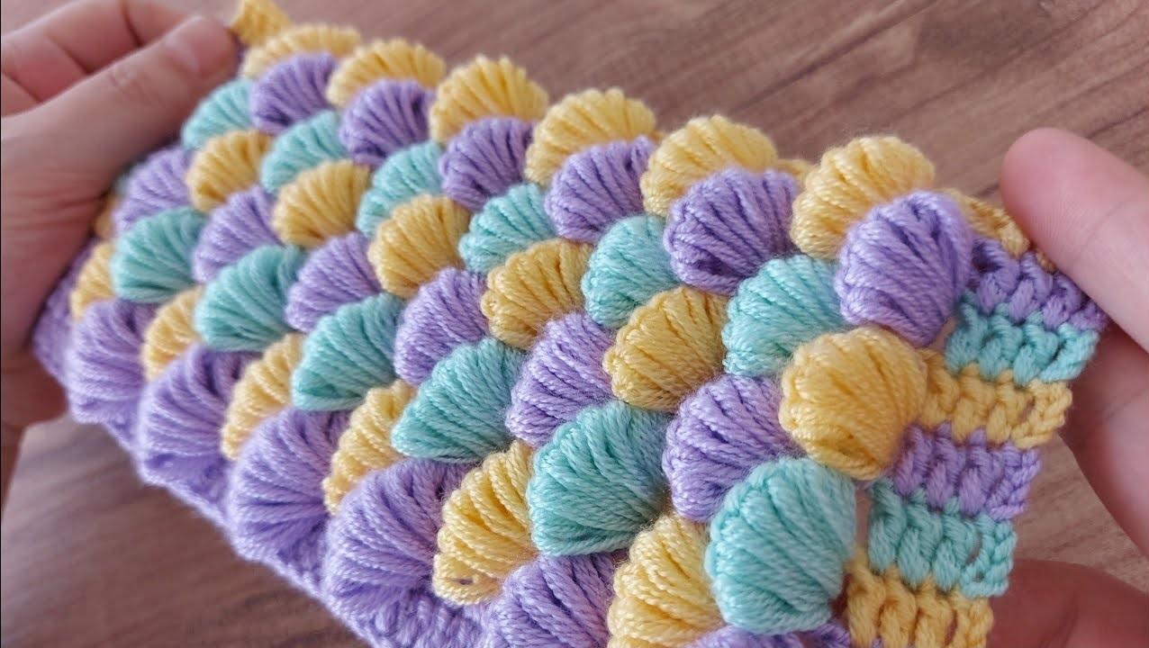 Crochet Shell Blanket – free Tutorial