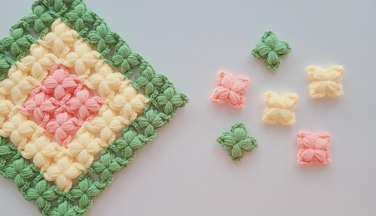 Crochet Butterfly Puff Stitch
