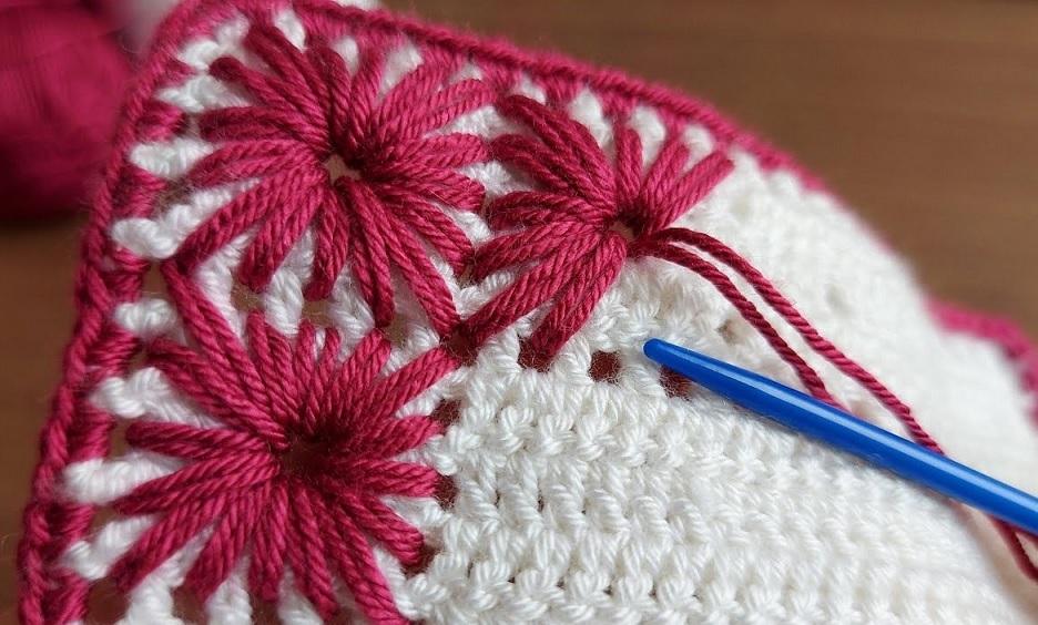 Add Star on a Crochet Stitch