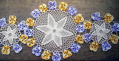 Vintage-Crochet-Doilies-Mats-Dressing-Table-Set