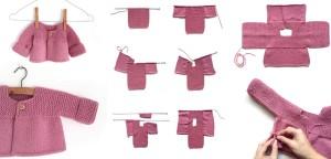 Casaco de lã de malha