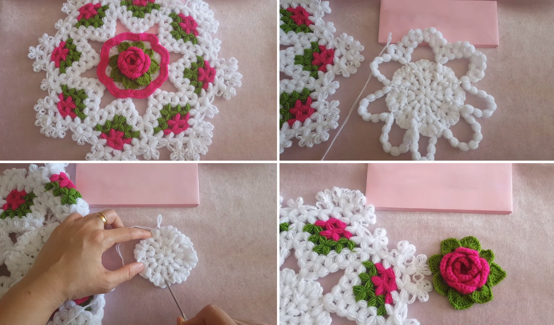 Crochet Table Path Design Peak
