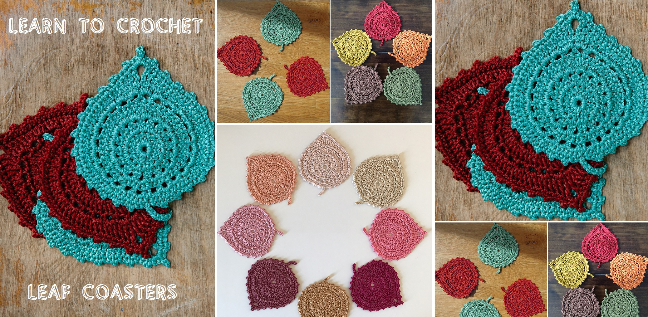 Crochet Leaf Coaster Design Peak