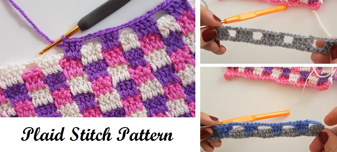 Crochet Plaid Stitch Design Peak